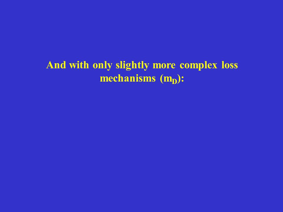And with only slightly more complex loss mechanisms (m D ):