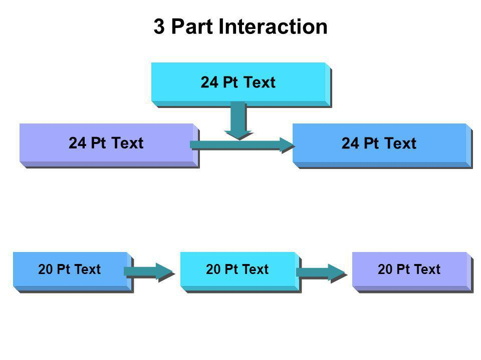 3 Part Interaction 20 Pt Text 24 Pt Text