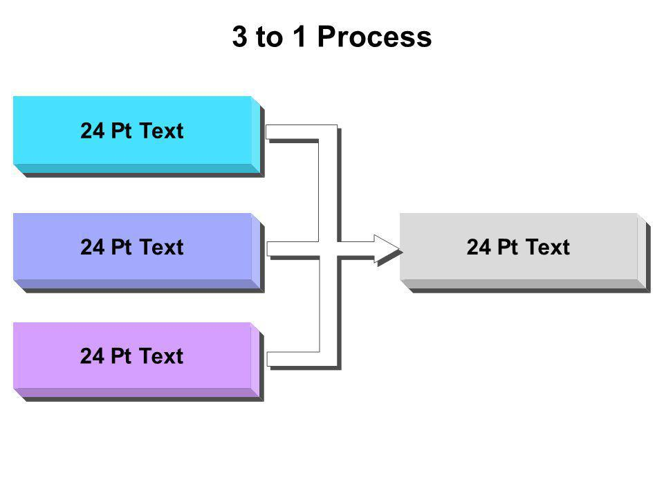 3 to 1 Process 24 Pt Text