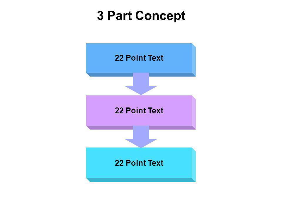 3 Part Concept 22 Point Text