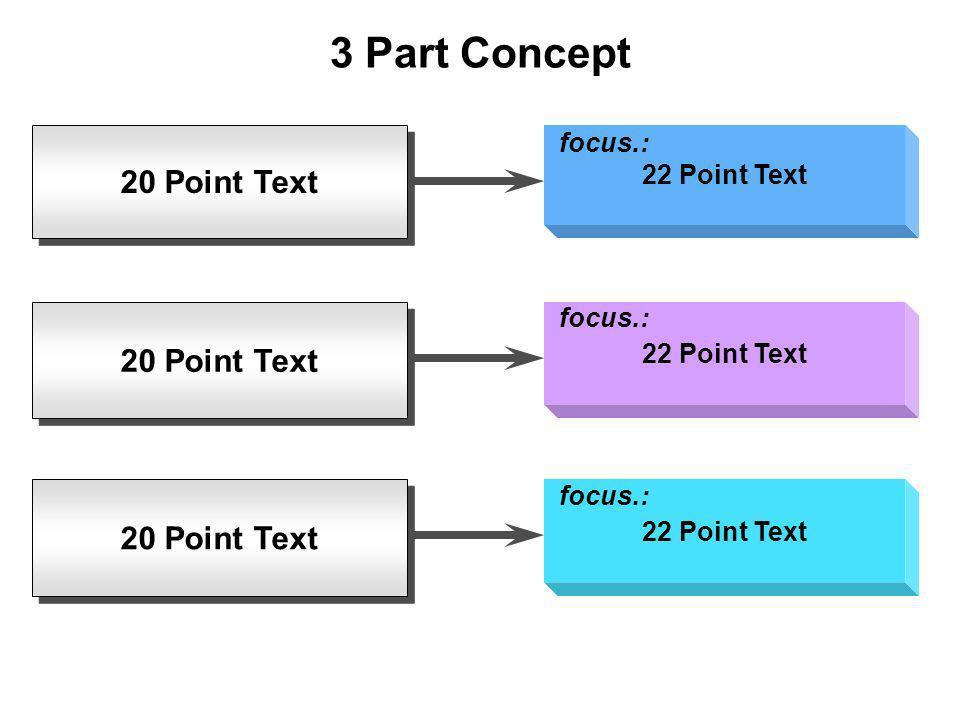 20 Point Text 3 Part Concept 22 Point Text focus.: