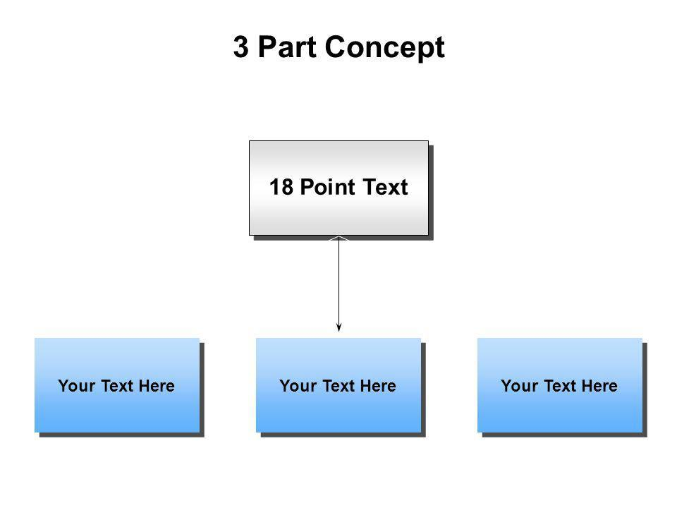 3 Part Concept 18 Point Text Your Text Here