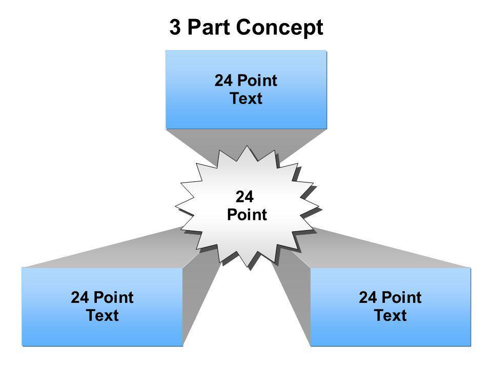 3 Part Concept 24 Point Text 24 Point Text 24 Point Text 24 Point 24 Point