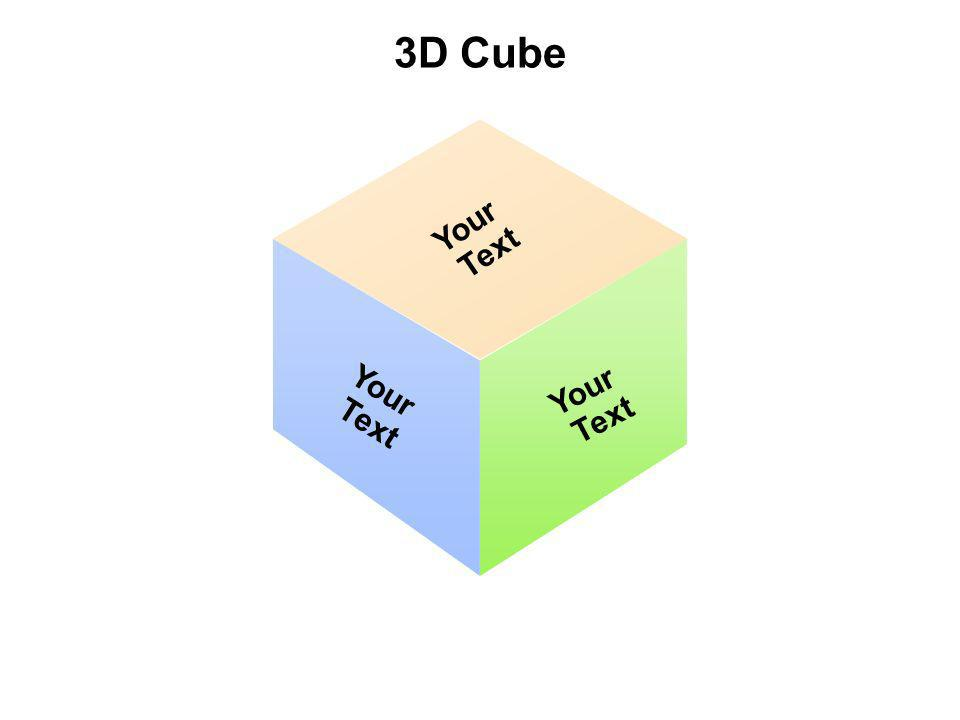 3D Cube Your Text Your Text Your Text