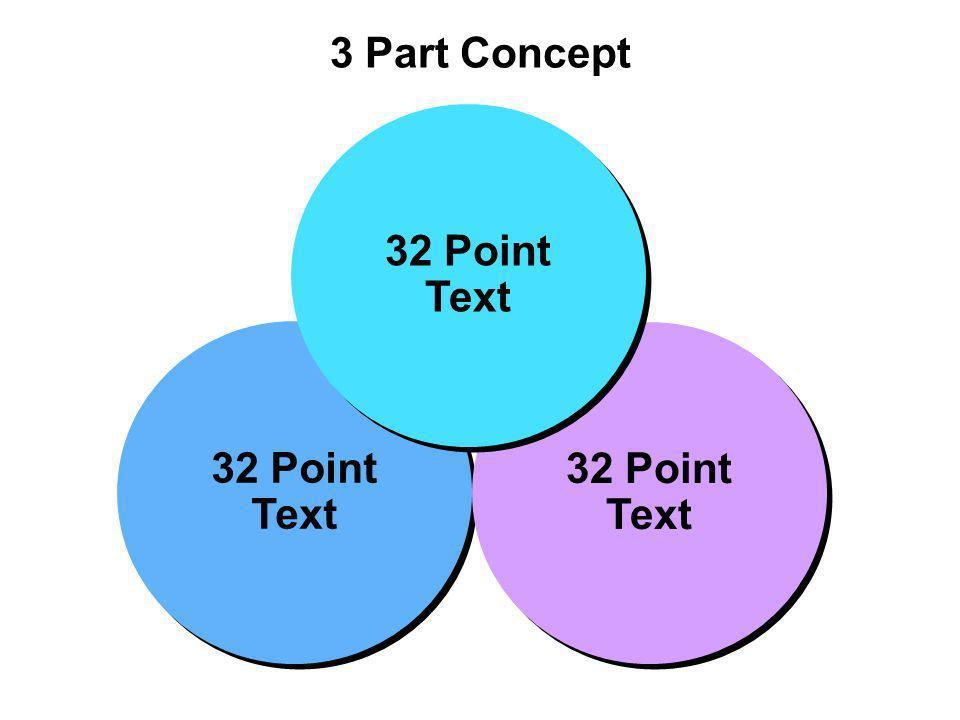 3 Part Concept 32 Point Text 32 Point Text 32 Point Text 32 Point Text 32 Point Text 32 Point Text