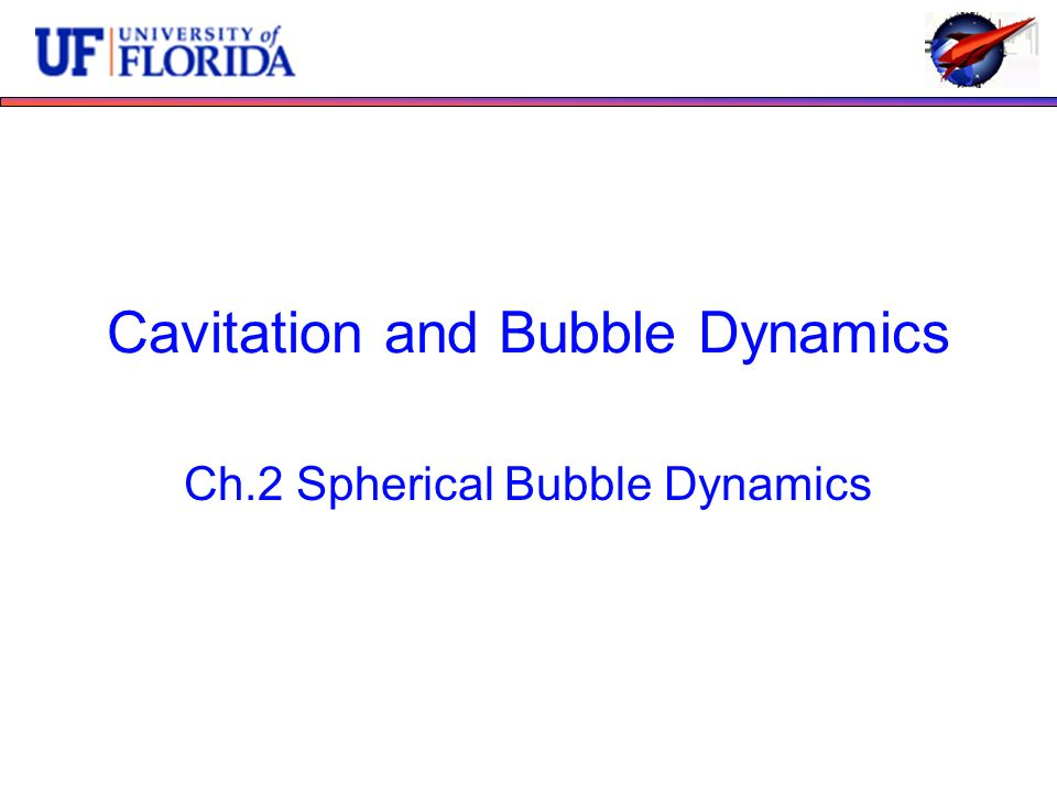 Cavitation and Bubble Dynamics Ch.2 Spherical Bubble Dynamics