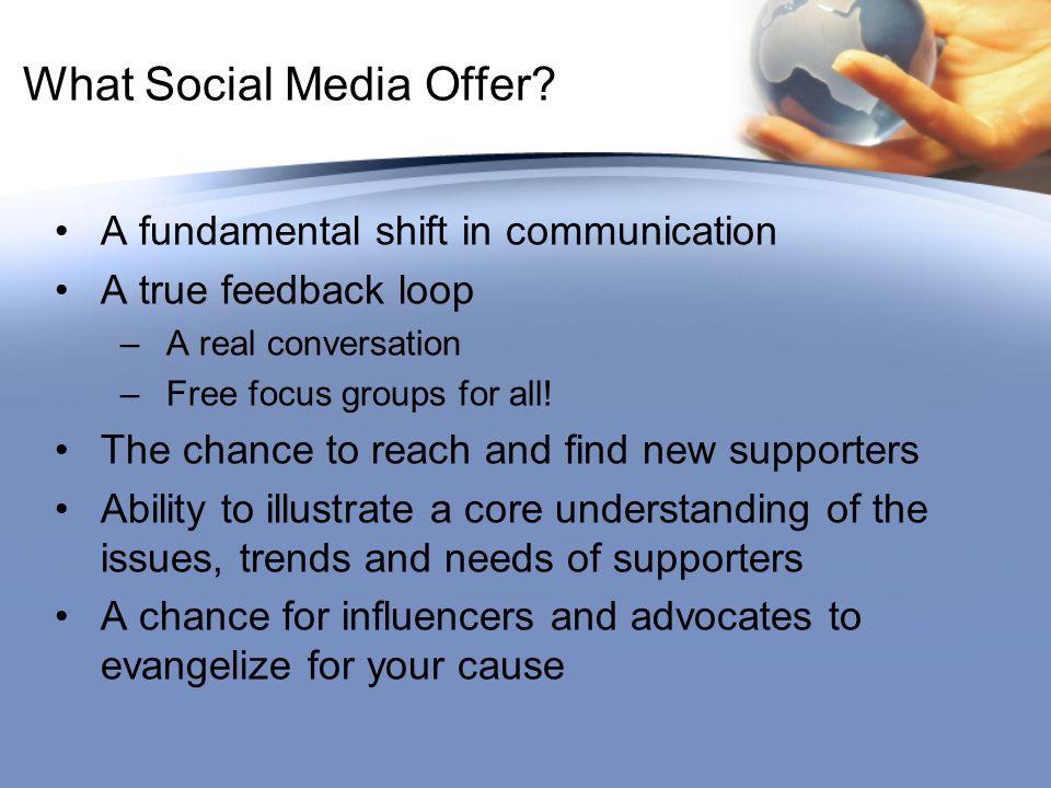 What Social Media Offer.