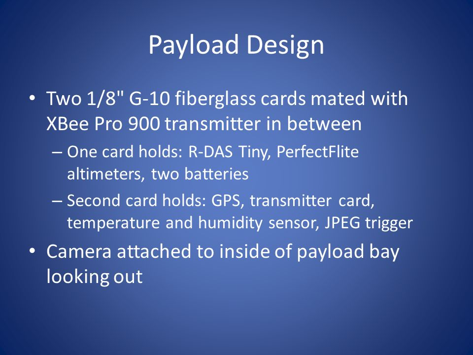 Payload Design Two 1/8