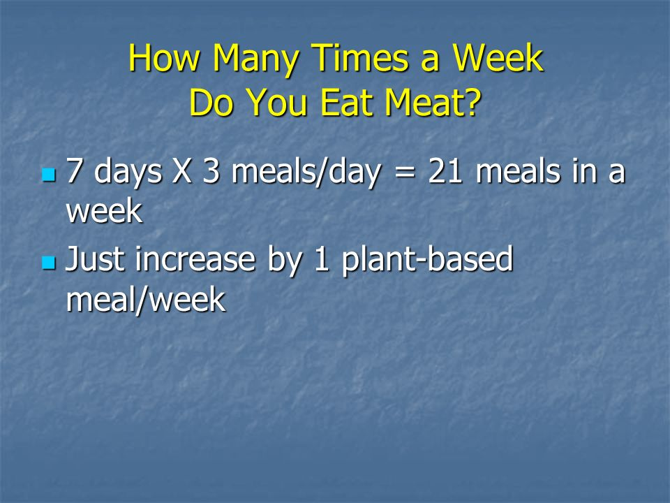 How Many Times a Week Do You Eat Meat.