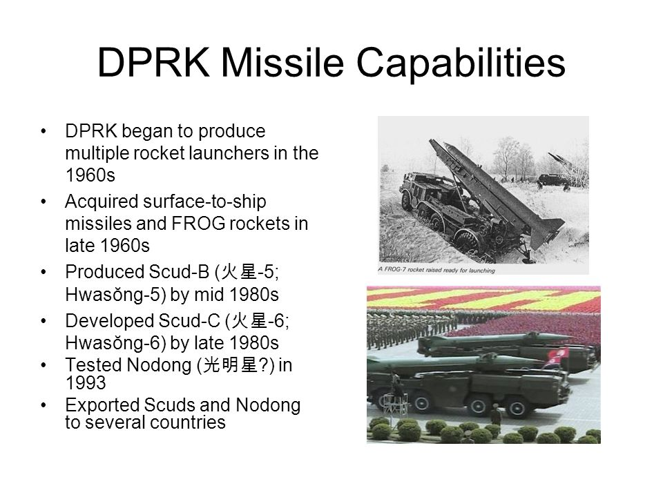 Overview DPRK Missile Capabilities Nonproliferation Concerns DPRK Space Program and Scientific Nationalism Preemption Doctrine and Rhetoric ROK Cruise Missile Program MD Policy Recommendations