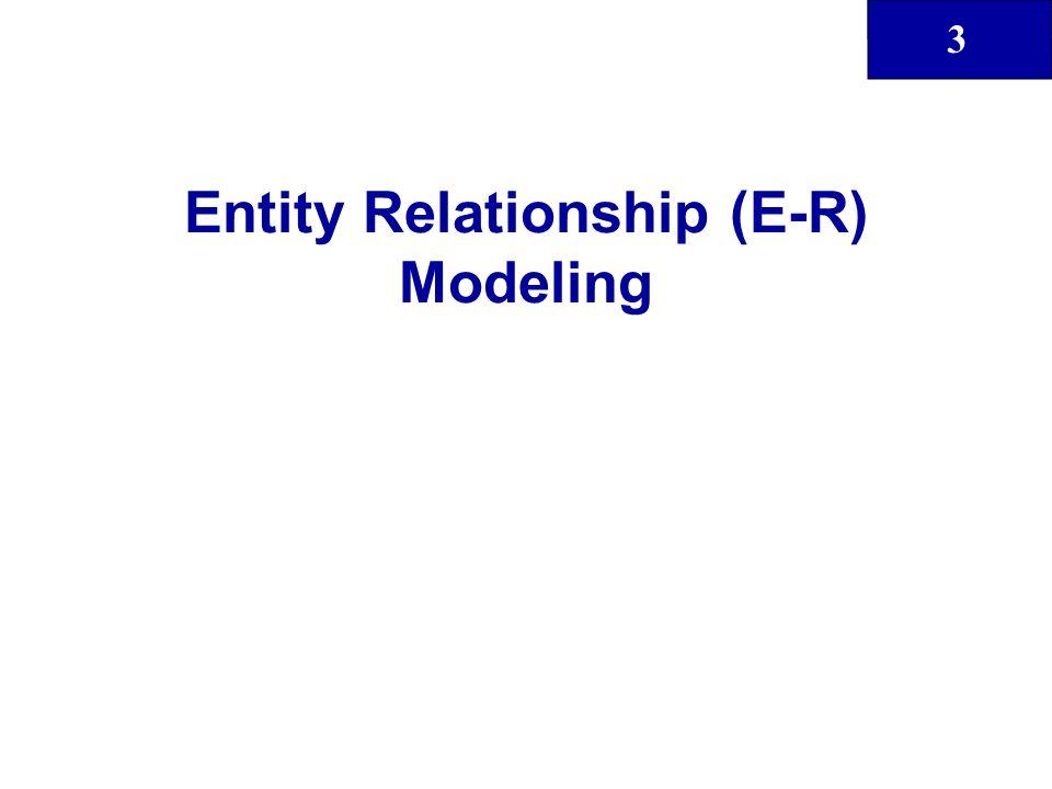 3 Entity Relationship (E-R) Modeling