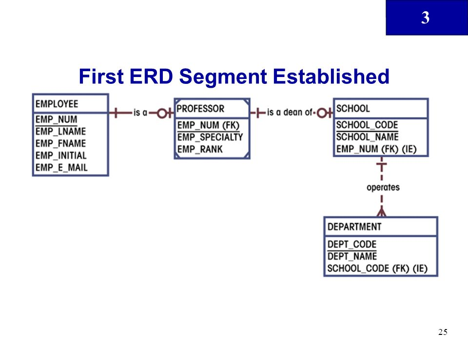 3 25 First ERD Segment Established