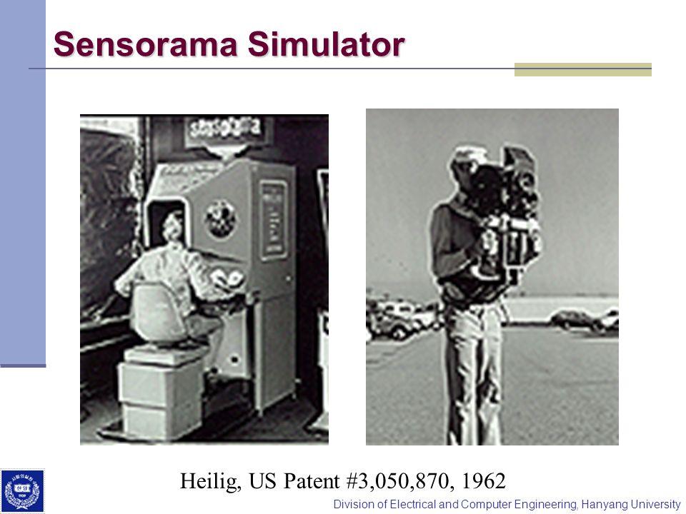 Division of Electrical and Computer Engineering, Hanyang University Sensorama Simulator Heilig, US Patent #3,050,870, 1962