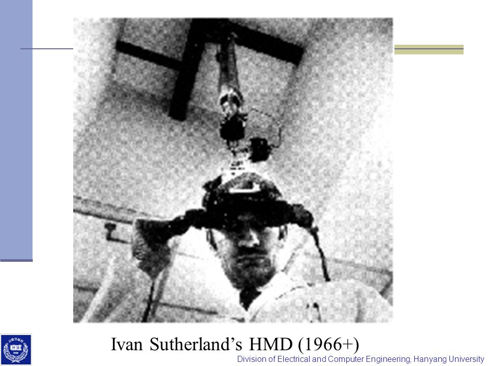 Division of Electrical and Computer Engineering, Hanyang University Ivan Sutherlands HMD (1966+)