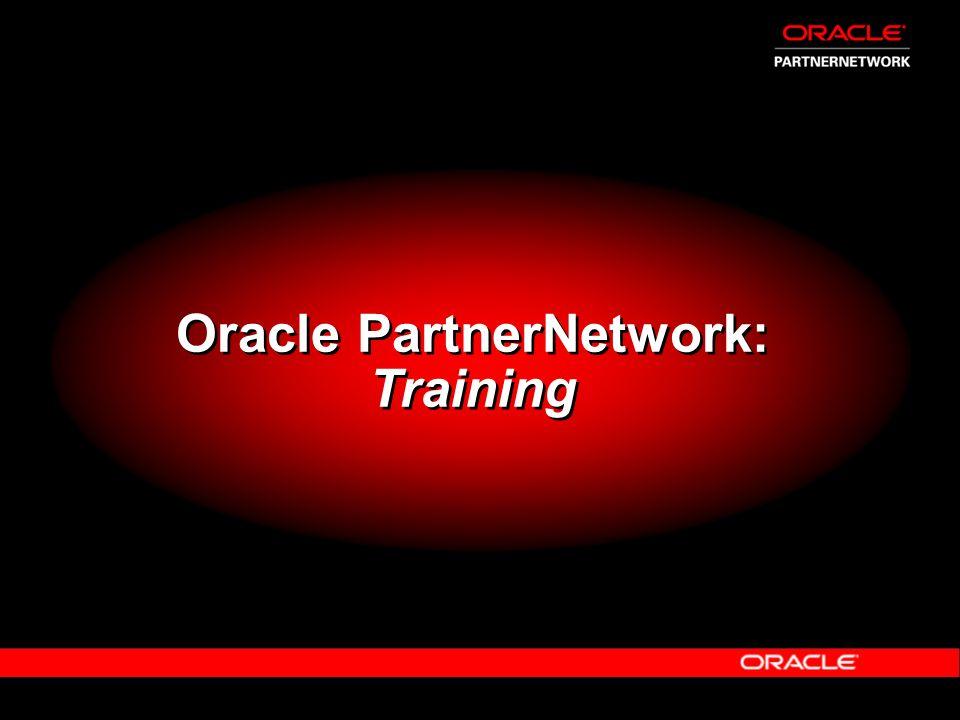 Oracle PartnerNetwork: Training