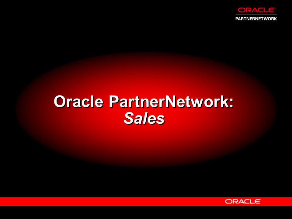 Oracle PartnerNetwork: Sales