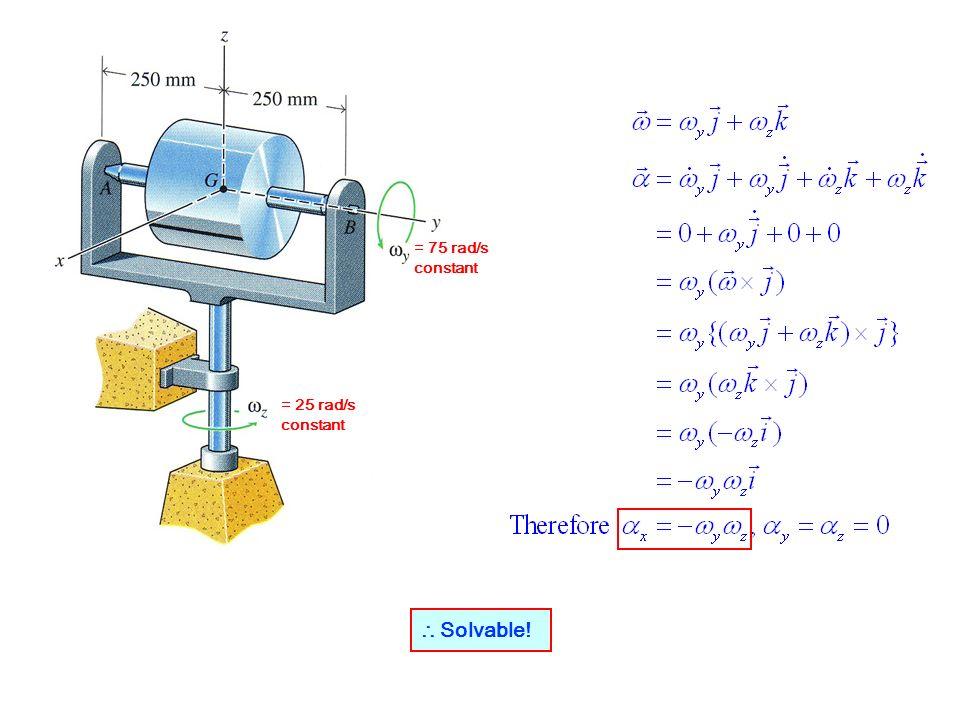 = 75 rad/s constant = 25 rad/s constant Solvable!