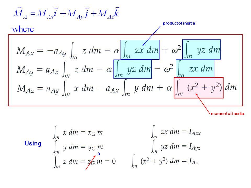 product of inertia moment of inertia Using 0