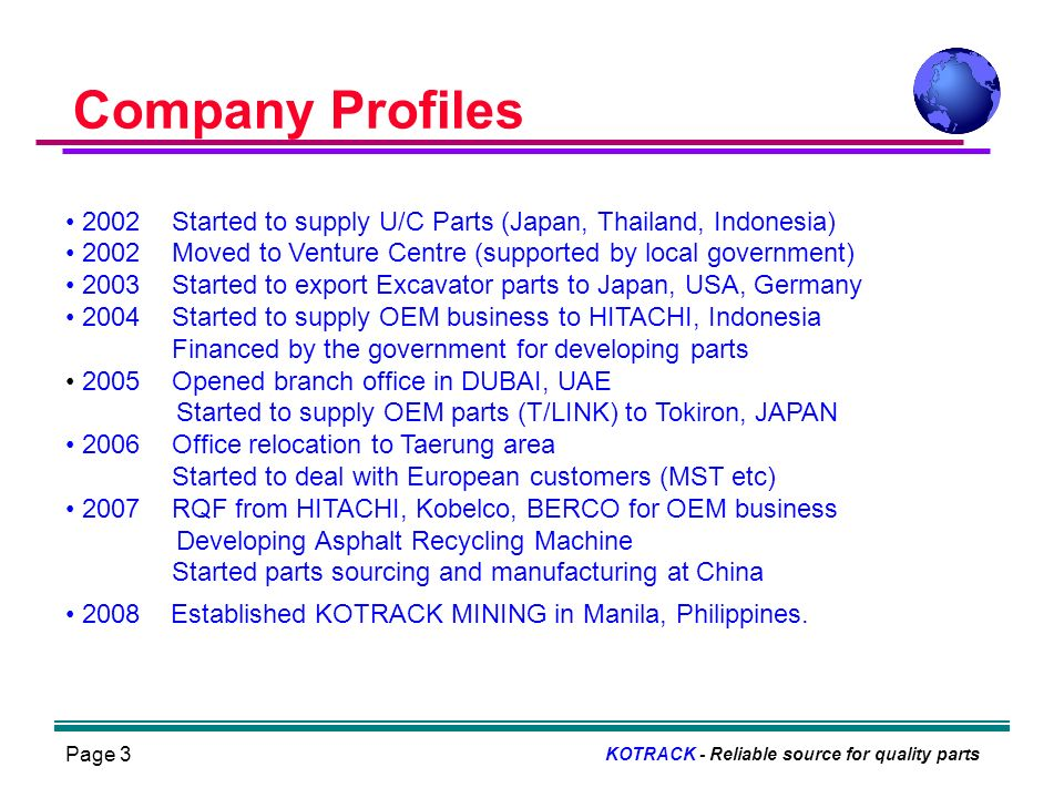 Page 4 Business Career of CEO KOTRACK - Reliable source for quality parts