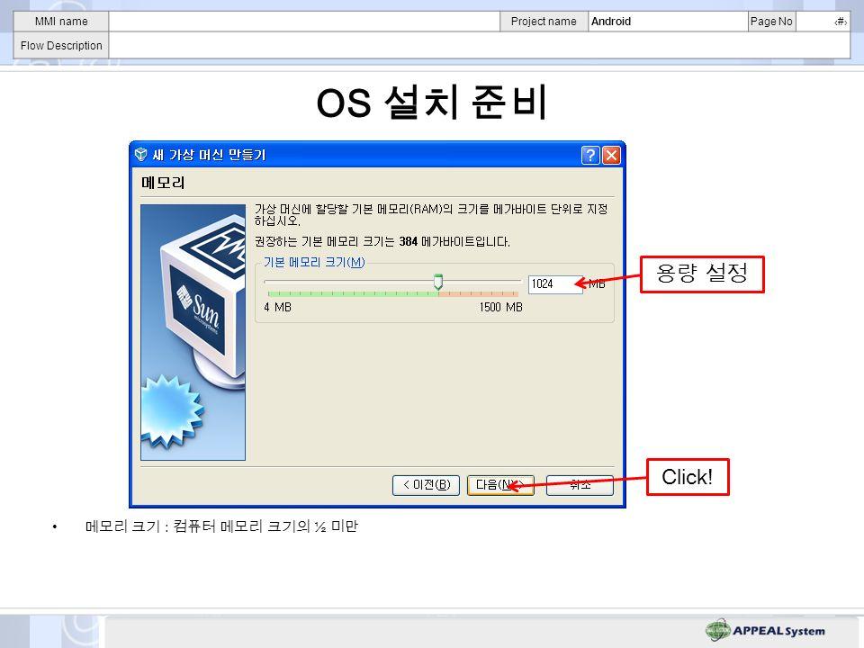 MMI nameProject nameAndroidPage No# Flow Description OS – Click!