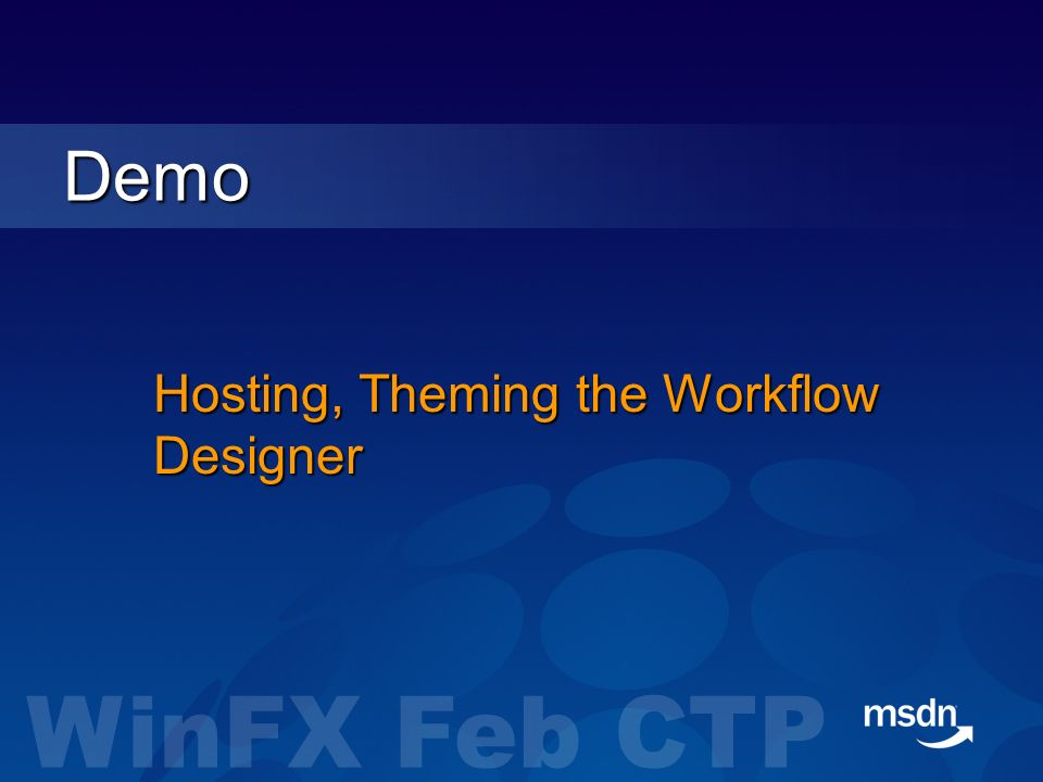 Hosting, Theming the Workflow Designer Demo