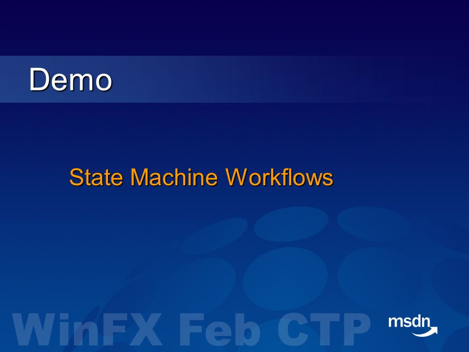 State Machine Workflows Demo