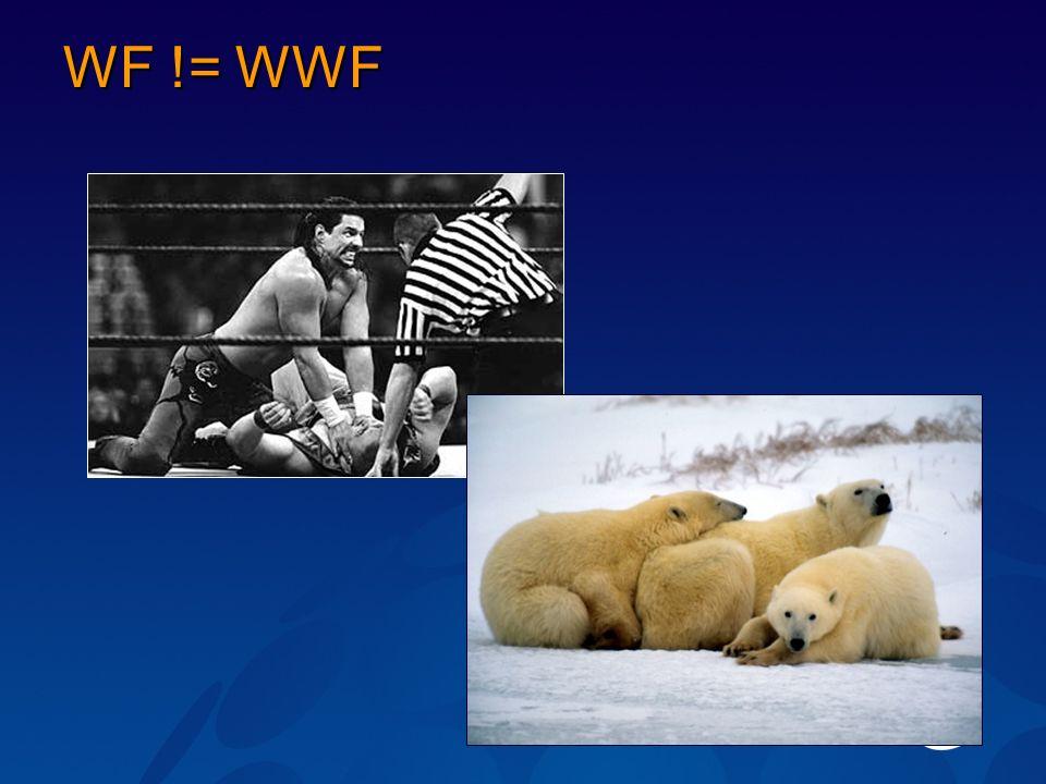 WF != WWF
