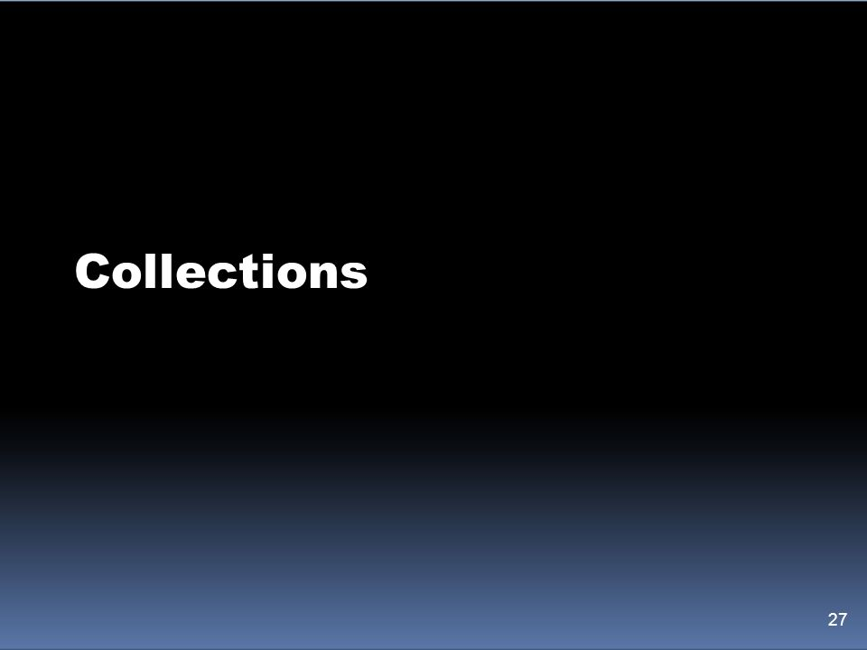 Collections 27