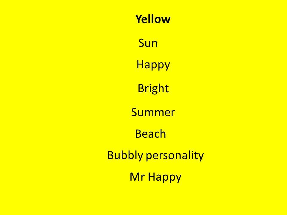 Yellow Sun Happy Bright Summer Beach Bubbly personality Mr Happy