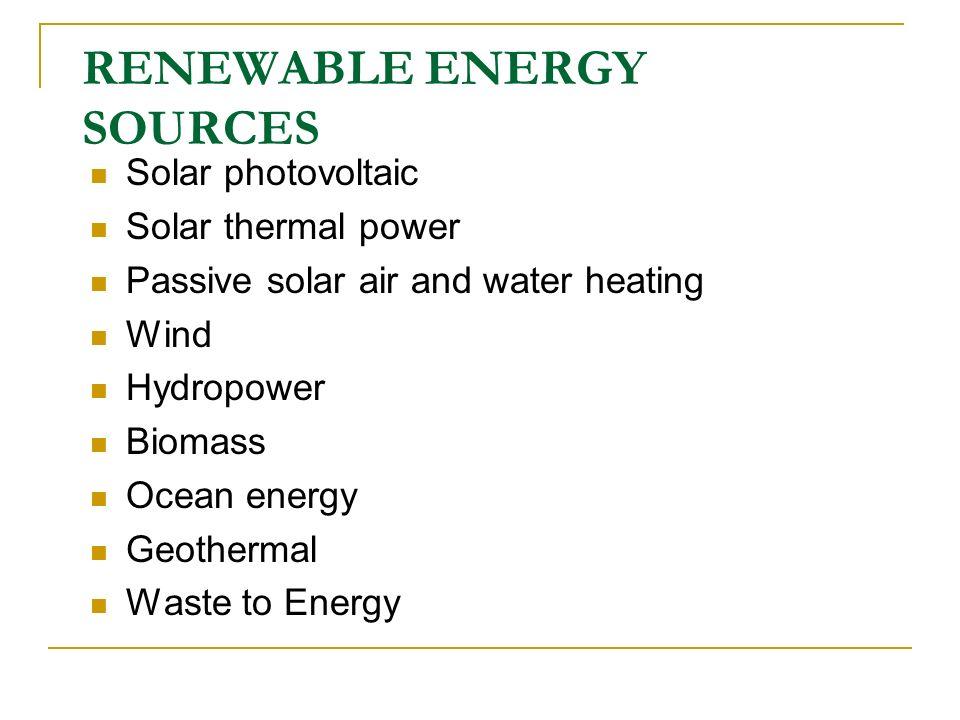 Emerging Developments in Renewables – Contd.