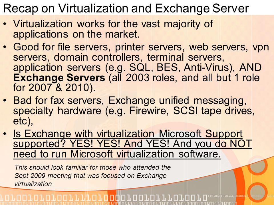 Microsofts Exchange Support Policies 2 Explained Current as of June 7, 2010 via primary sources by Ben Serebin.
