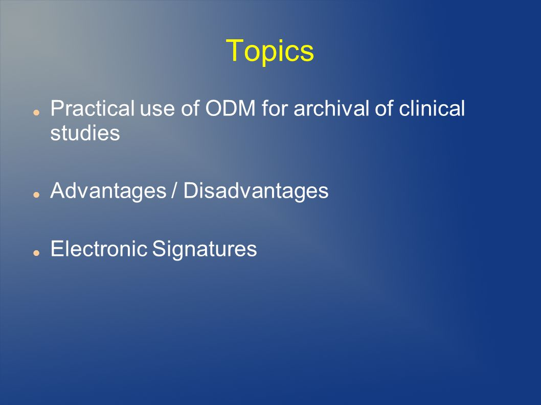 XML-Signature for ODM