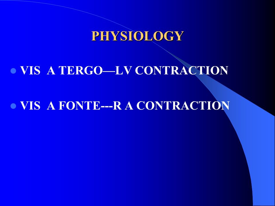 PHYSIOLOGY VIS A TERGOLV CONTRACTION VIS A FONTE---R A CONTRACTION