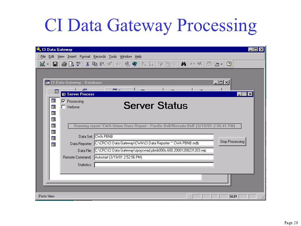 Page 29 CI Data Gateway Processing