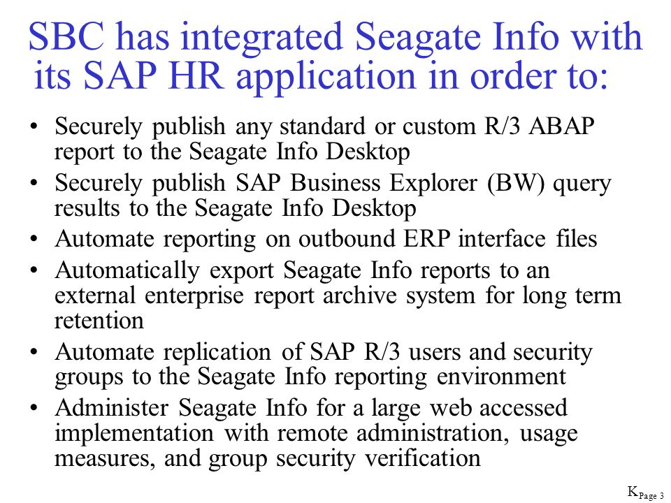 Page 74 CI Group Desktop Seagate Crystal Info Monitor SAP Security Impact (CI GroupDesktop) Security Group Desktop Views CI Group Desktop supports monitoring the impact of CI Security when it replicates SAP security groups and users to the Seagate Info Desktop
