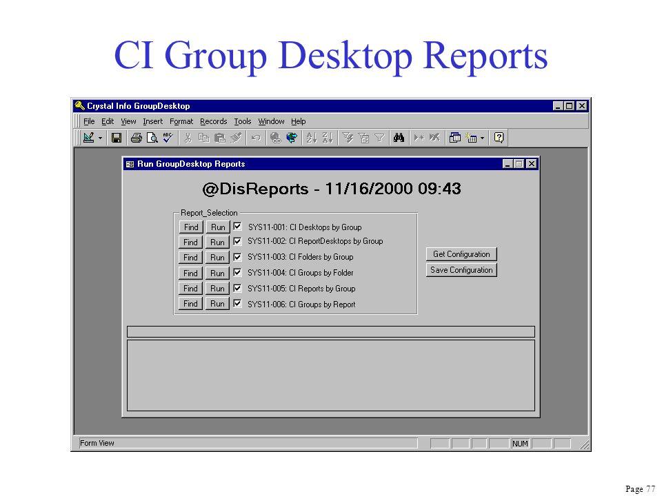 Page 77 CI Group Desktop Reports