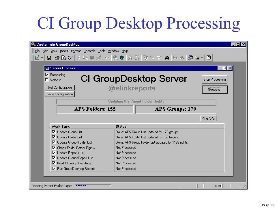 Page 78 CI Group Desktop Processing