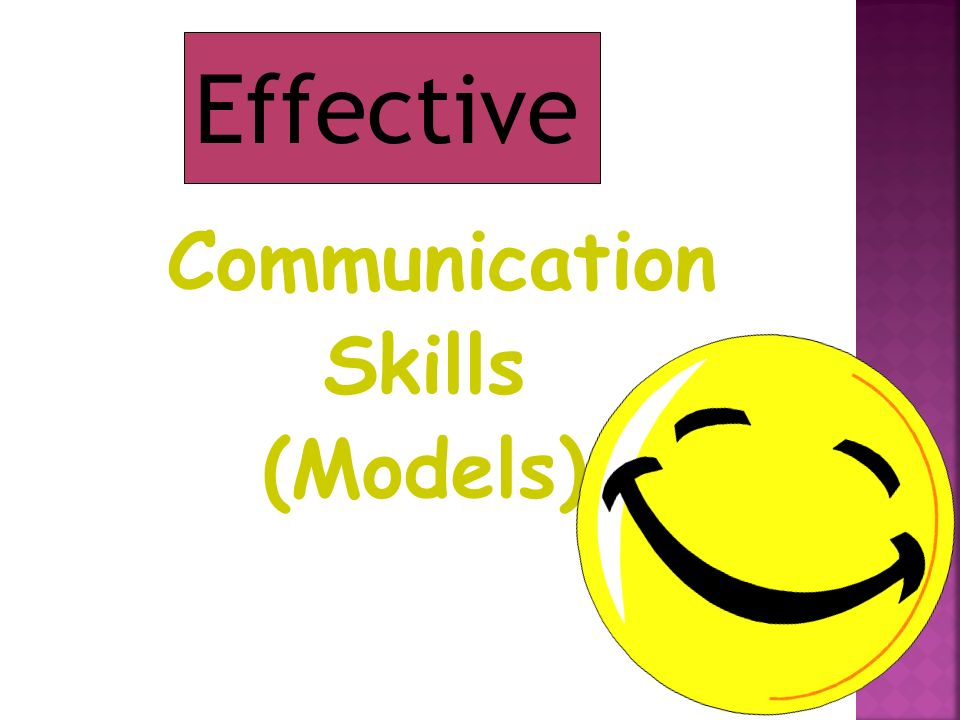 Communication Skills (Models) Effective