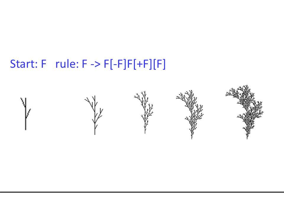 Start: F rule: F -> F[-F]F[+F][F]