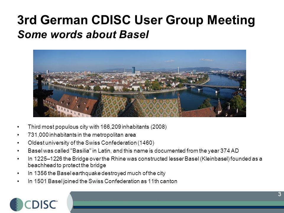 14 German CDISC User Group Bylaws Article 1 - Name The name of the organization shall be the German CDISC User Group, hereto after referred to as the User Group.