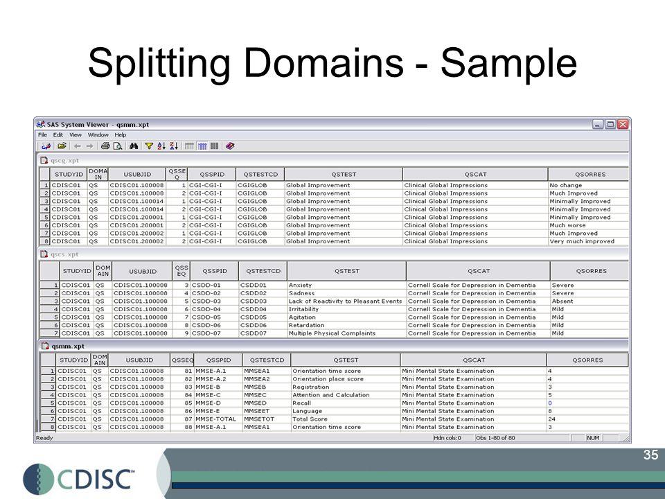 35 Splitting Domains - Sample