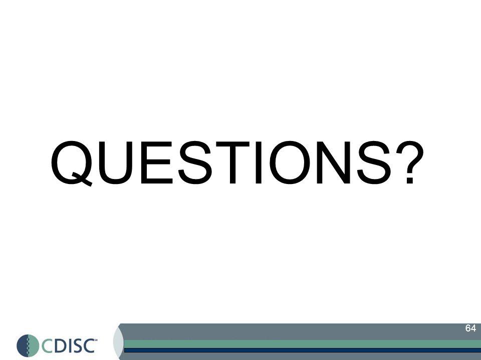 64 QUESTIONS?