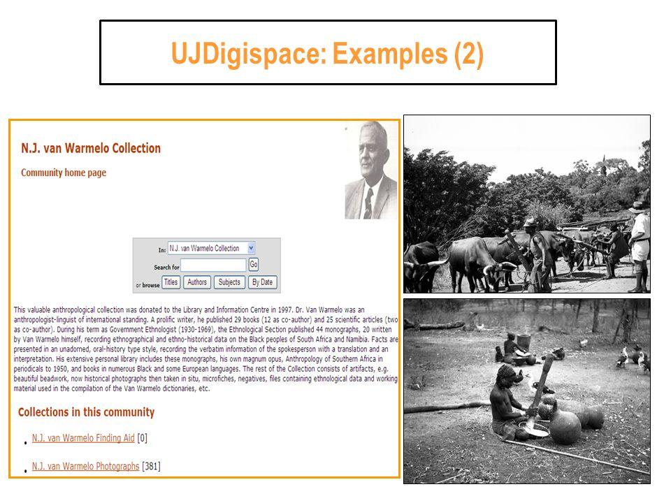 UJDigispace: Examples (2)