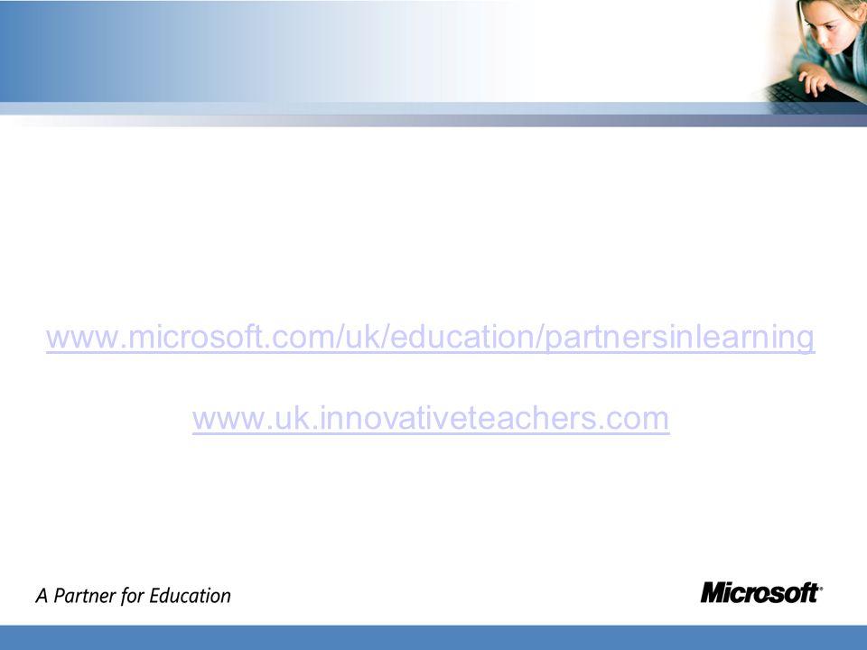 www.microsoft.com/uk/education/partnersinlearning www.uk.innovativeteachers.com