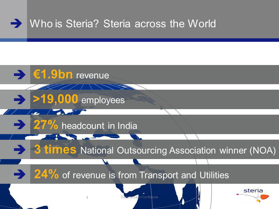 www.steria.co.uk Commercial in Confidence Who is Steria.