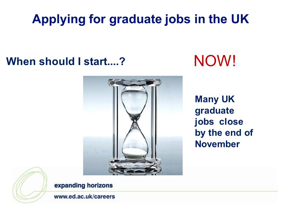 Applying for graduate jobs in the UK When should I start.....