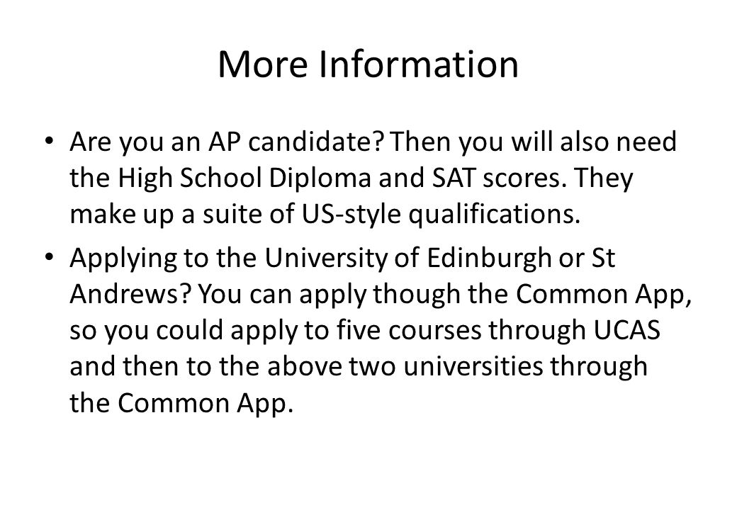 More Information Are you an AP candidate.