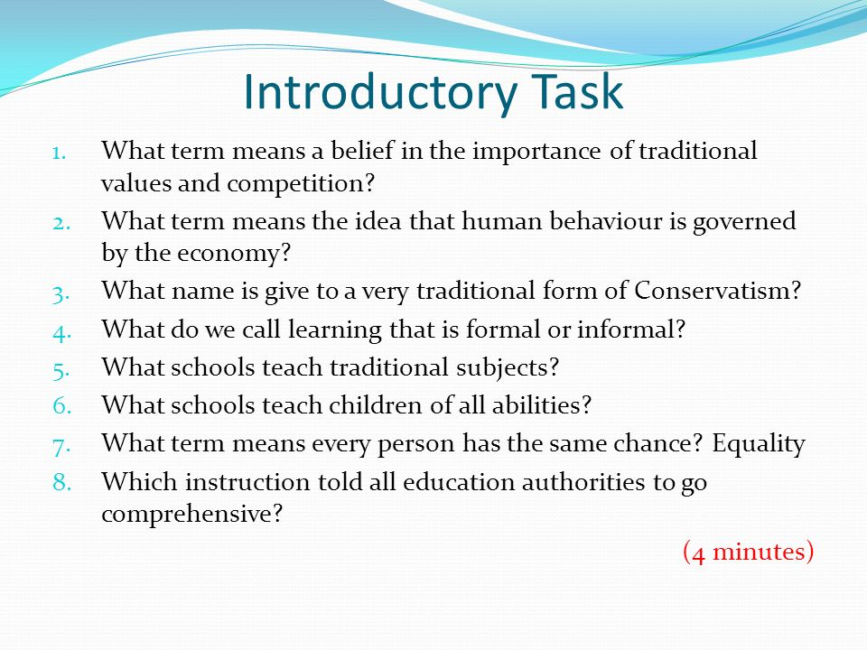 Introductory Task 1.