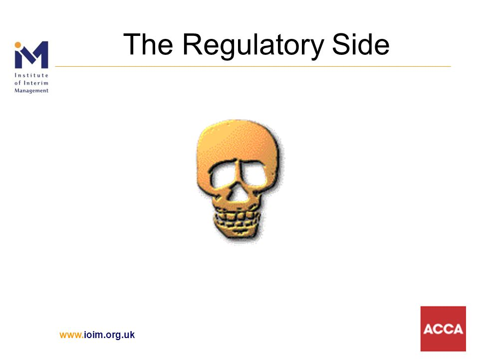 The Regulatory Side