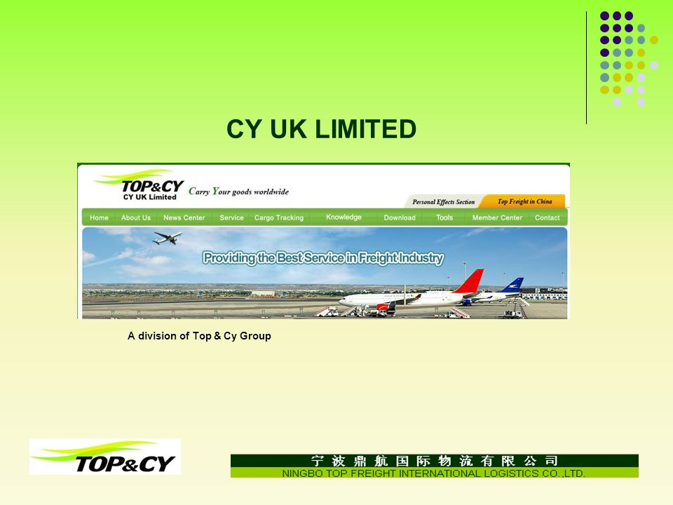 CY UK LIMITED A division of Top & Cy Group